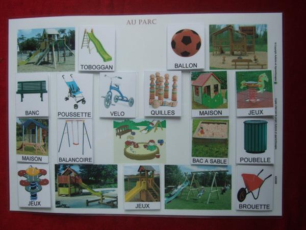 planche cat gorisation a3 au parc 420306 autisme et apprentissages. Black Bedroom Furniture Sets. Home Design Ideas